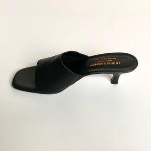 Donald J. Pliner Shoes - DONALD J PLINER Black Leather Open Toe Heels